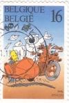 Sellos de Europa - Bélgica -  cartero-dibujos infantiles