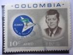 Stamps Colombia -  Scott/Col. C455 - John Fitzgerald Kennedy 1917-1963- Alianza Para El Progreso