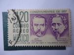Stamps Mexico -  Constituyentes de 1857 - Leon Guzman - Ignacio Ramirez