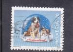 Sellos de Europa - Suiza -  bolas de nieve- perros san Bernardo