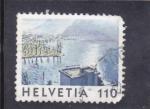 Stamps Switzerland -  paisaje y lago  alpino
