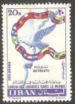 Stamps Lebanon -  202 - Unión libanesa en el Mundo