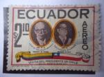Stamps Ecuador -  Visita del Presidente de Chile, Quito Agosto 24 de 1971