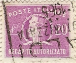 Stamps of the world : Italy :  RECAPITO AUTORIZZATO