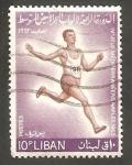 Sellos de Asia - Líbano -  230 - IV Juegos del Mediterráneo, atletismo