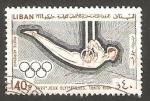Sellos del Mundo : Asia : Líbano : 331 - Olimpiadas de Tokyo, gimnasia