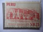 Stamps Peru -  Escuela de Ingenieros - 1945.