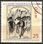 Sellos de Europa - Alemania -  100 a�os de la Comuna de Par�s-DDR.