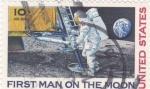 Sellos de America - Estados Unidos -  primer hombre en la Luna
