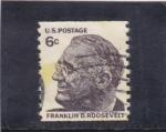 Sellos de America - Estados Unidos -  Franklin D.Roosevelt- presidente
