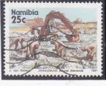 Stamps Africa - Namibia -  busqueda de diamantes en Oranjemund