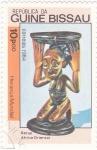 Sellos de Africa - Guinea Bissau -  máscara- africa oriental