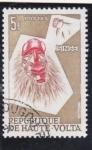 Sellos de Europa - Burkina Faso -  máscara- mono