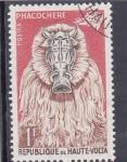 Stamps Burkina Faso -  máscara- jabalí