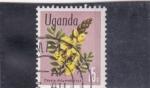 Sellos de Africa - Uganda -  flores-