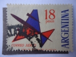Sellos de America - Argentina -  Correo Aéreo-Avión Electrostático Sobrecargado