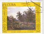 Stamps Cuba -  paisaje con malangas y cocoteros