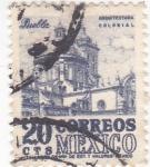 Stamps : America : Mexico :  catedral de Puebla