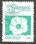 Stamps Nicaragua -  1261 - Flor