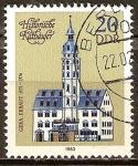 Sellos de Europa - Alemania -  Ayuntamientos históricos - Gera Hall, construido 1573-1576-DDR.