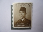Stamps Indonesia -  Achmed Sukarno  (1901/70)
