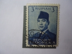 Sellos de Asia - Indonesia -  presidente, Achmed Sukarno 1901/70.