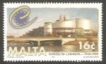 Stamps : Europe : Malta :   1038 - Palacio de Europa en Estraburgo