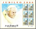 Sellos del Mundo : America : Honduras :  Jubileo 2000, Juan Pablo II, Peregrino de La Paz