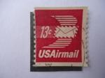 Sellos de America - Estados Unidos -  US Airmail - Sobre con Alas de Correo Aéreo (Winged Airmail evelope)