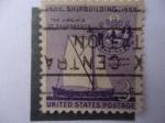 Stamps United States -  1607 Shipbuilding 1957-The Virgfinia Of Sagadahock - Contrucción Naval