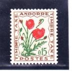 Sellos de Europa - Andorra -  flores-
