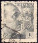 Sellos de Europa - España -  ESPAÑA 1949 1056 Sello General Franco 1p Usado