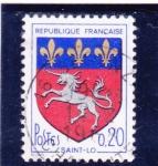 Sellos de Europa - Francia -  escudo - SAINT-LO