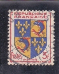 Stamps : Europe : France :  escudo - DAUPHINE