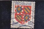 Sellos del Mundo : Europa : Francia :  escudo -BOURGOGNE