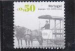 Sellos de Europa - Portugal -  tranvía a caballo