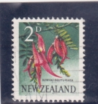 Stamps New Zealand -  flores-