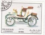 Sellos de Asia - Emiratos Árabes Unidos -  coche de epoca- SHARJAH