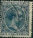 Stamps Spain -  Alfonso XIII Tipo pelón