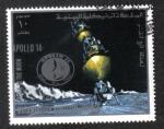 Sellos de Asia - Yemen -  Misión a La Luna
