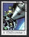 Stamps Yemen -  Conquista de la Luna