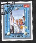 Sellos del Mundo : Asia : Yemen : Exploración del Espacio