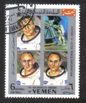 Stamps Yemen -  Exploración del Espacio