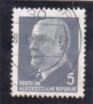 Stamps Germany -  presidente Walter Ulldrich