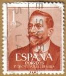 Sellos de Europa - España -  Centenario del nacimiento de VAZQUEZ DE MELLA