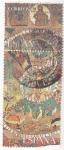 Sellos de Europa - España -  tapiz de la creación- Girona (21)