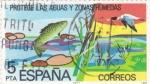 Sellos de Europa - España -  protege las aguas y zonas humedas  (21)
