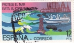 Stamps : Europe : Spain :  protege el mar  (21)