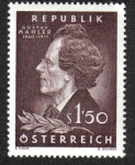 Sellos del Mundo : Europa : Austria : Gustav Mahler (1860-1911) compositor