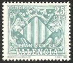 Sellos de Europa - España -  11 - Plan Sur de Valencia, Escudo de Valencia